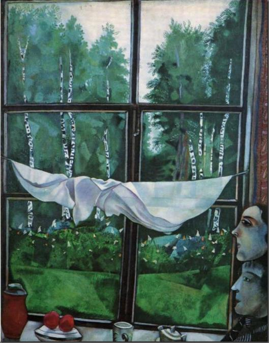Le finestre di Chagall sono universi intensamente poetici.